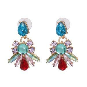 Jewelry - Crystal Colors Bee Earrings.